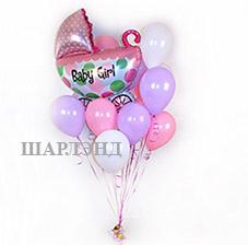 2 Больших сердца и колонны из воздушных шаров (ШДМ) аэродизайн, Романтическое оформление комнаты