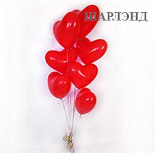 Оформление комнаты/зала сердцами из воздушных гелиевых шаров (ШДМ) аэродизайн