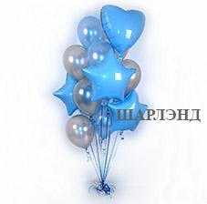 Арка и колонны из воздушных гелиевых шаров в виде сердца (ШДМ) аэродизайн, оформление воздушными шарами