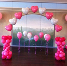 Оформление Арка из гелиевых шаров и колонны из воздушных шаров (ШДМ) аэродизайн, оформление воздушными шарами