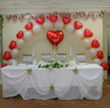 Украшение зала колоннами из воздушных шаров (ШДМ) аэродизайн, оформление воздушными шарами
